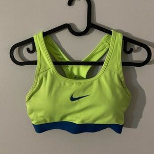 Lime green Nike pro sports bra